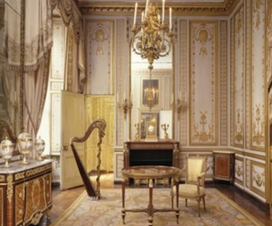 vintage, gold, and room image
