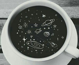 coffee, space, and black image