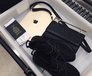 shoes, apple, and black image