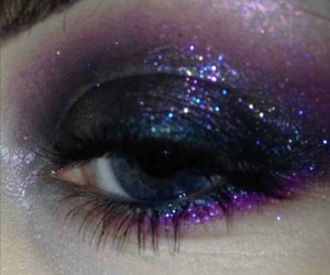 glitter, makeup, and grunge image