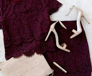 fashion, outfit, and lace image