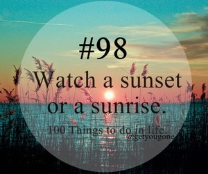 -sunset and -things i want to do image