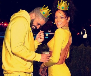 Drake, rihanna, and yellow image