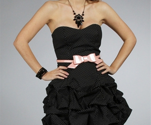 black, dress, and dresses image