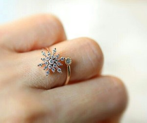 fashion, ring, and snowflakes image