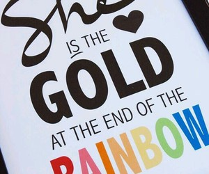 rainbow, gold, and lesbian image