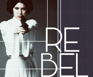 blue, carrie fisher, and guns image