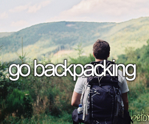 backpacking, before i die, and beforeidie image