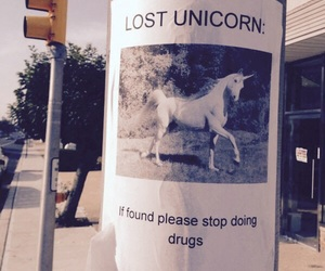 unicorn, drugs, and funny image