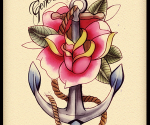 anchor, art, and illustration image