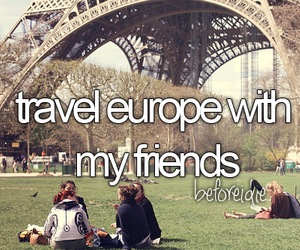 friends, europe, and travel image