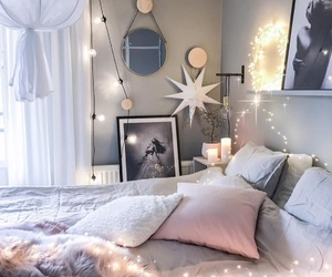bedroom, interior, and cozy image
