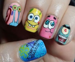 nails, art, and spongebob image