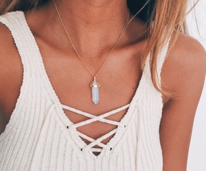 fashion, necklace, and goals image