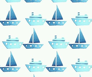 blue and boats image