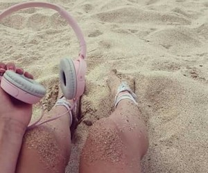 beach, music, and summer image