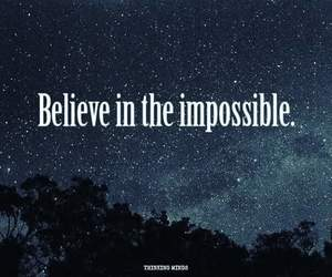believe and impossible image