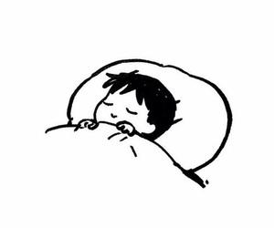 sleep, black, and white image