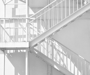 white, aesthetic, and stairs image