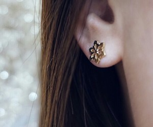 earrings, girl, and fashion image