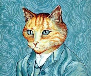 cat and van gogh image