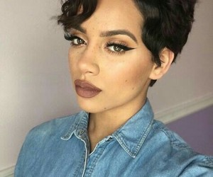black girl and pixie cut image