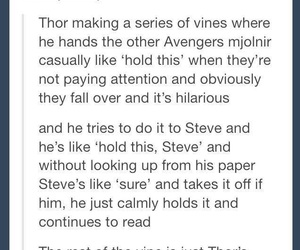 Avengers, thor, and funny image
