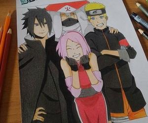 happy, kakashi, and sakura image