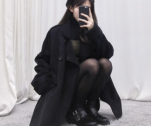 asia, coat, and ulzzang image