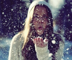 cold, snow, and white image