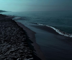 nature, dark nature, and ocean image