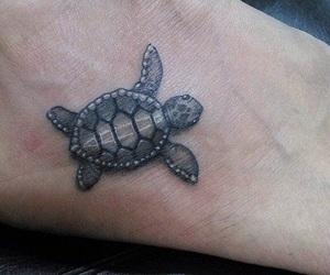 tattoo, turtle, and turtle tattoo image