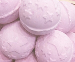 bath bombs, pastel, and pink image