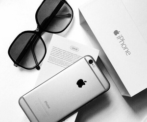 grey, iphone, and sunglasses image