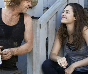 shameless, frank gallagher, and fiona gallagher image