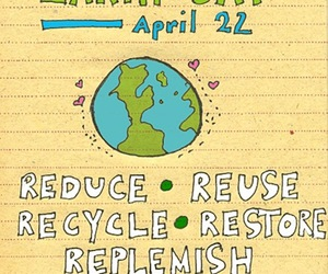art, earth day, and note image