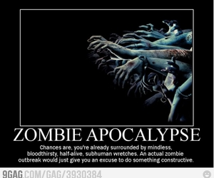 zombie, funny, and zombies image