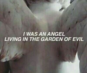 angel, black and white, and evil image