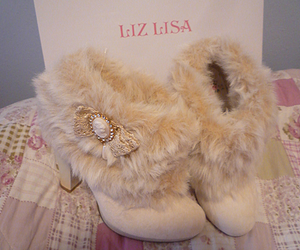 shoes, fur, and boots image