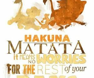disney, hakuna matata, and lion king image