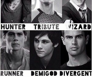 percy jackson, harry potter, and divergent image