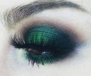 green, makeup, and eyeshadow image