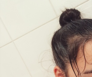 bath, eyebrows, and hair image