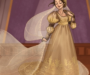 crown, платье, and disney image