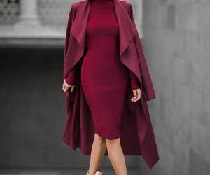 burgundy, dress, and girls image