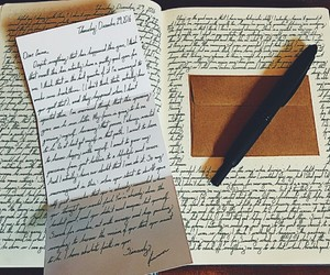 black, notebooks, and Letter image