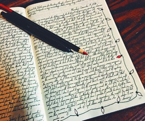 black, diary, and journaling image