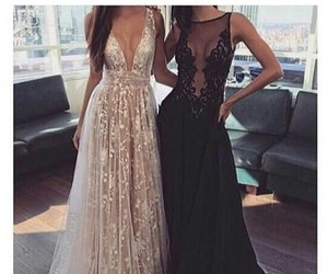 best friends, dress, and fashion image