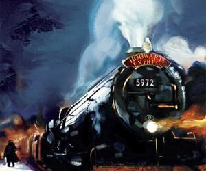 harry potter, hogwarts express, and hogwarts image