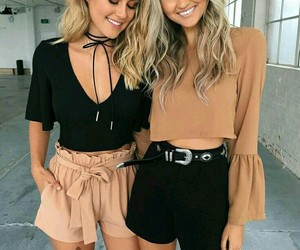 friends, bff, and fashion image